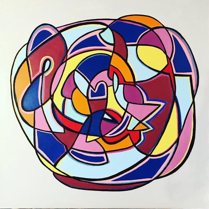 Encircling #1.  3x 3 ft, acrylic
