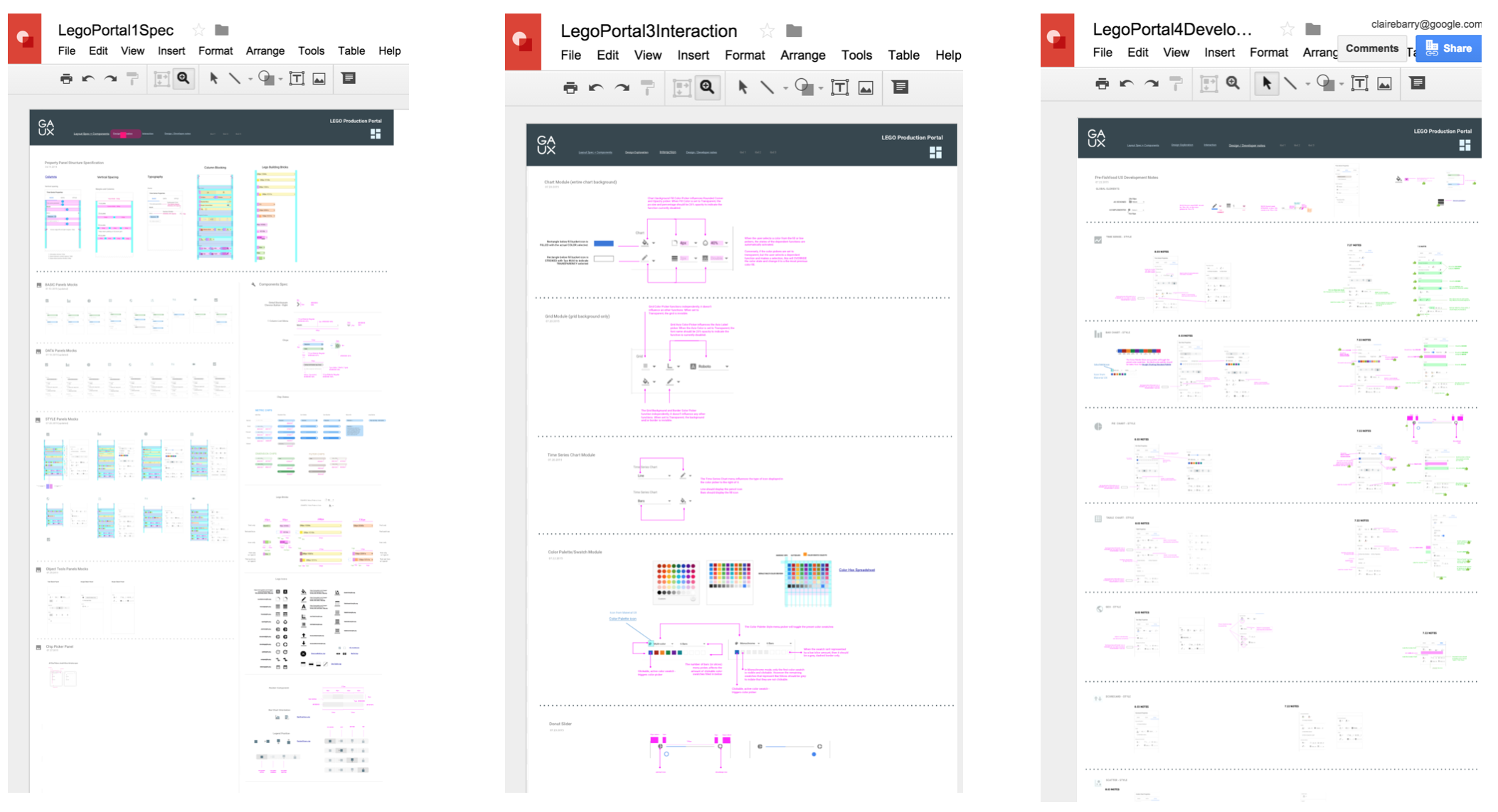 Collaborative Development - Google Drawing was used to create a live, collaborative development portal.It contained everything the FE team needed – specs, assets, interaction direction and revision notes.