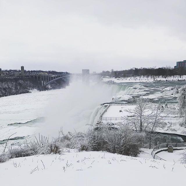 The Niagara Falls Ver. Winter #niagarafalls #winter #snowday