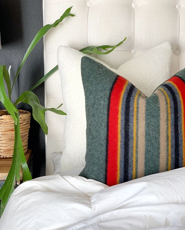 I tell ya, I just swoon over these Pendleton® Camp wool pillows when we get them done!! 😍 Maybe it's just the simplicity in the pattern, or the clean graphic look...what ever the reason, it gets me every time! What patterns really catch your eye? Do you have a favorite, or two? Would love to hear from you.  #mypendleton