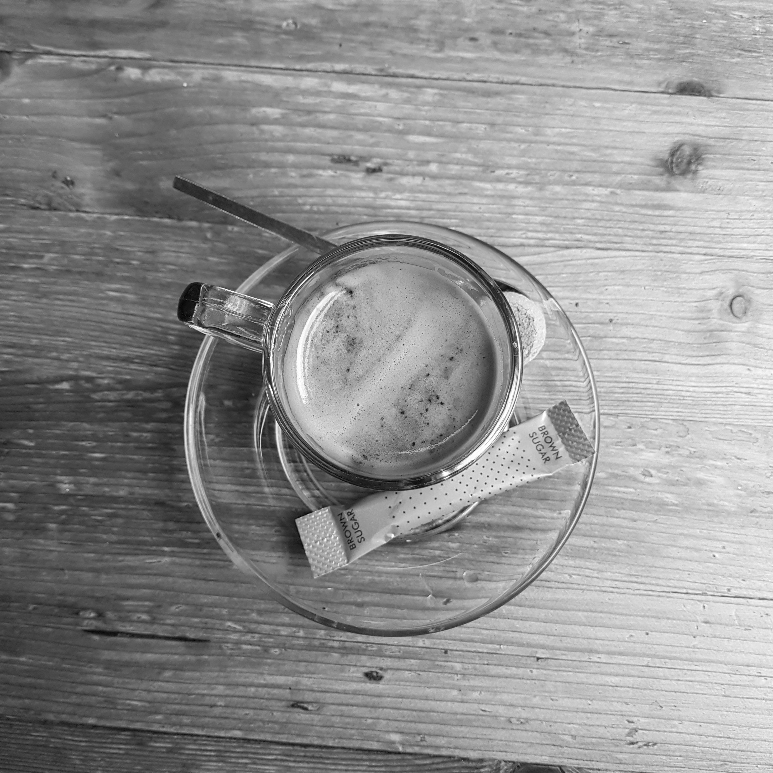 An espresso on a table
