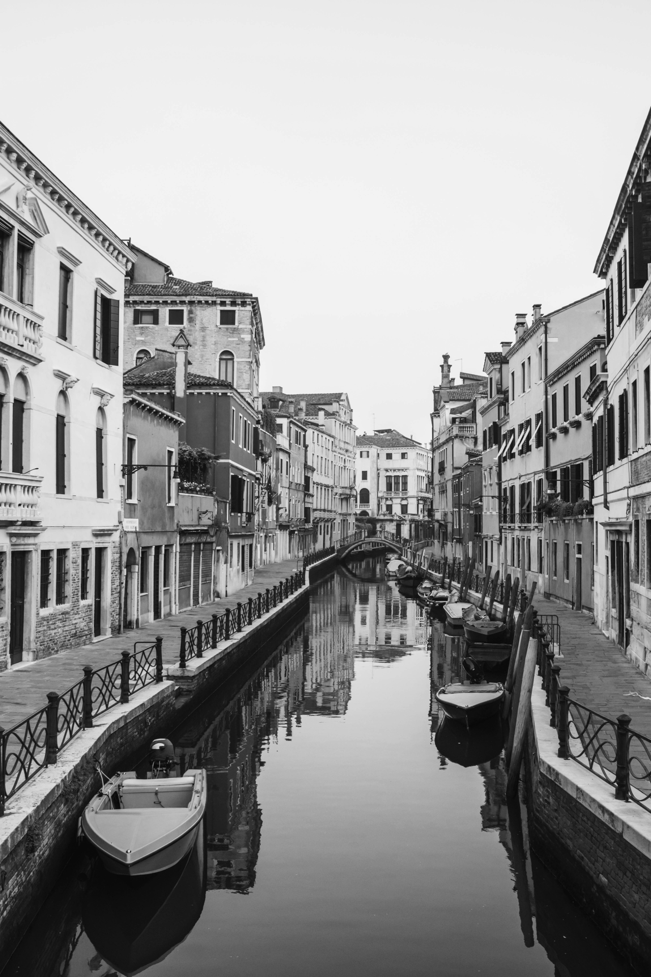 A canal in Venice, seen from a bridge
