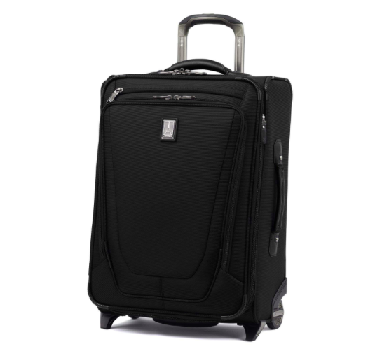 "The Travelpro Crew 11 22"" Expandable Rollaboard Suiter Suitcase is the common traveler's version of the famous carry-on that professional flight crews have depended on for decades. It includes an external USB port for powering up any USB-powered device from the dedicated charger pocket."