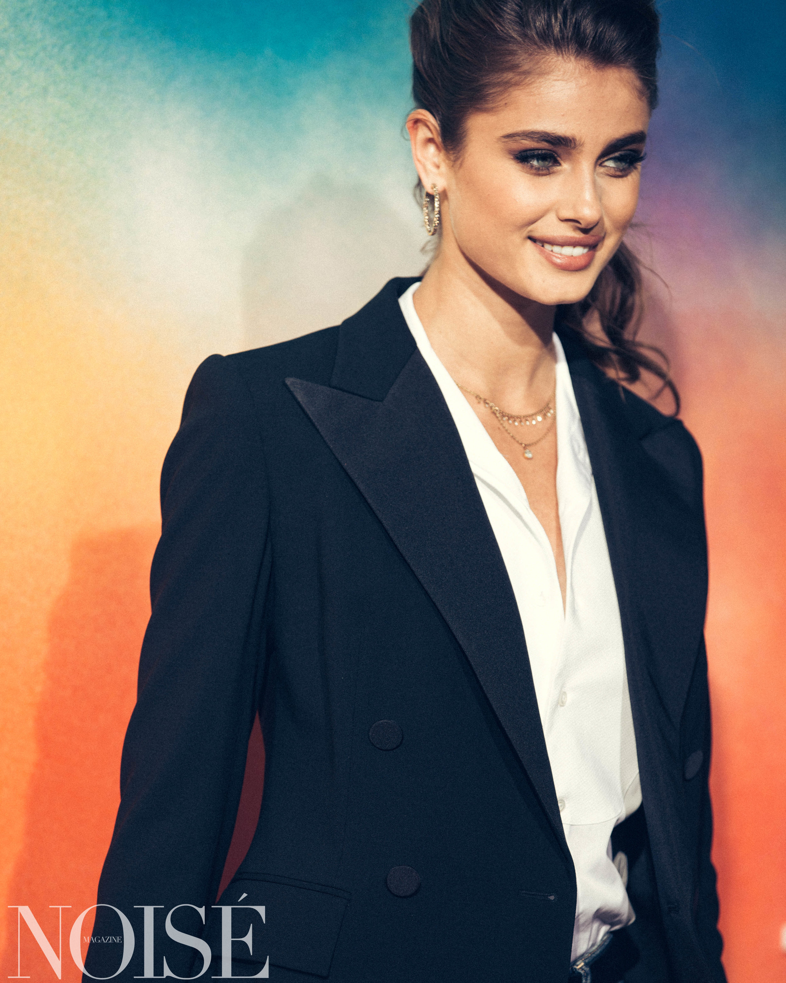 Taylor Hill wearing Ralph Lauren at BoF 500 gala, Photograph by Siyu Tang for NOISÉ