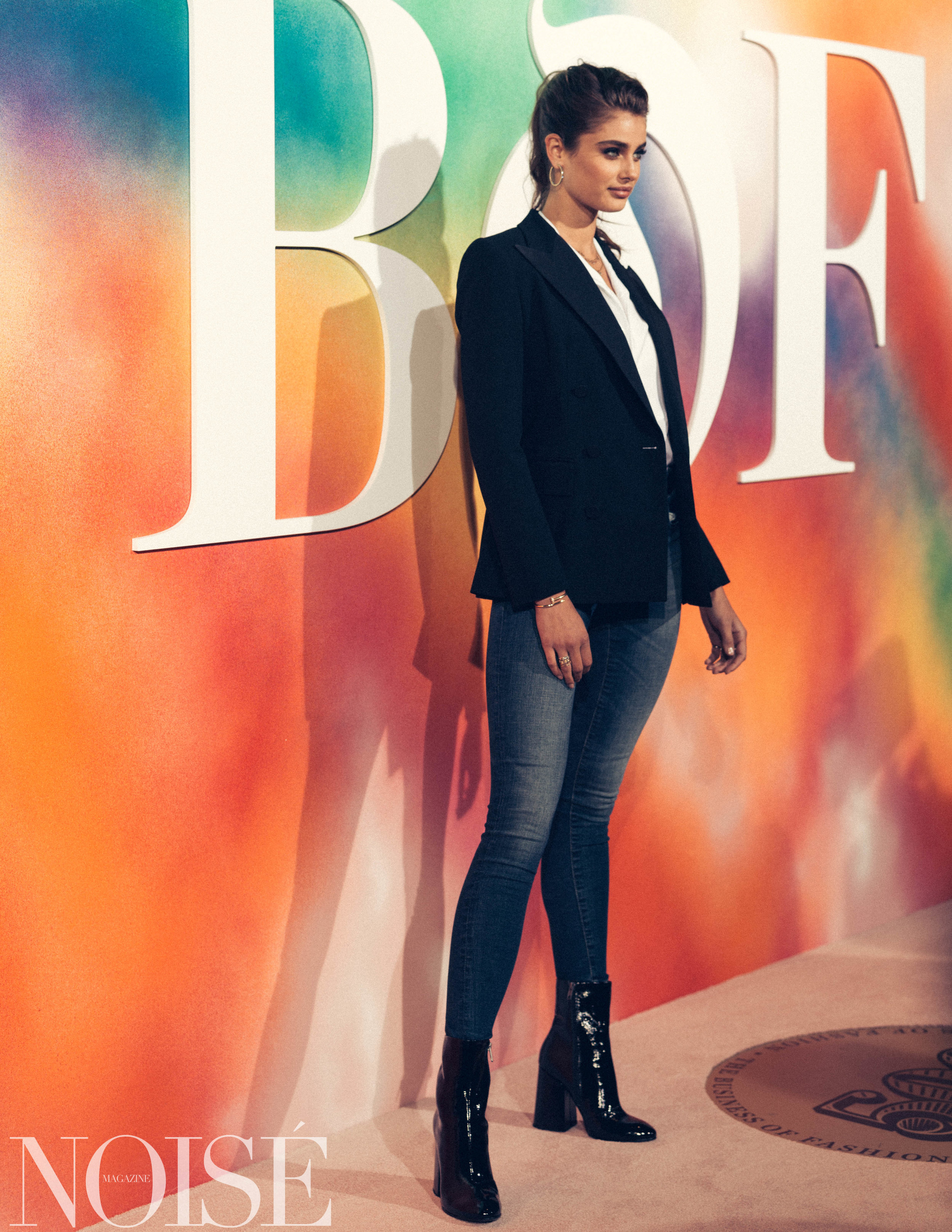 Taylor Hill wearing Ralph Lauren at BoF 500 gala, Photograph by Siyu Tang