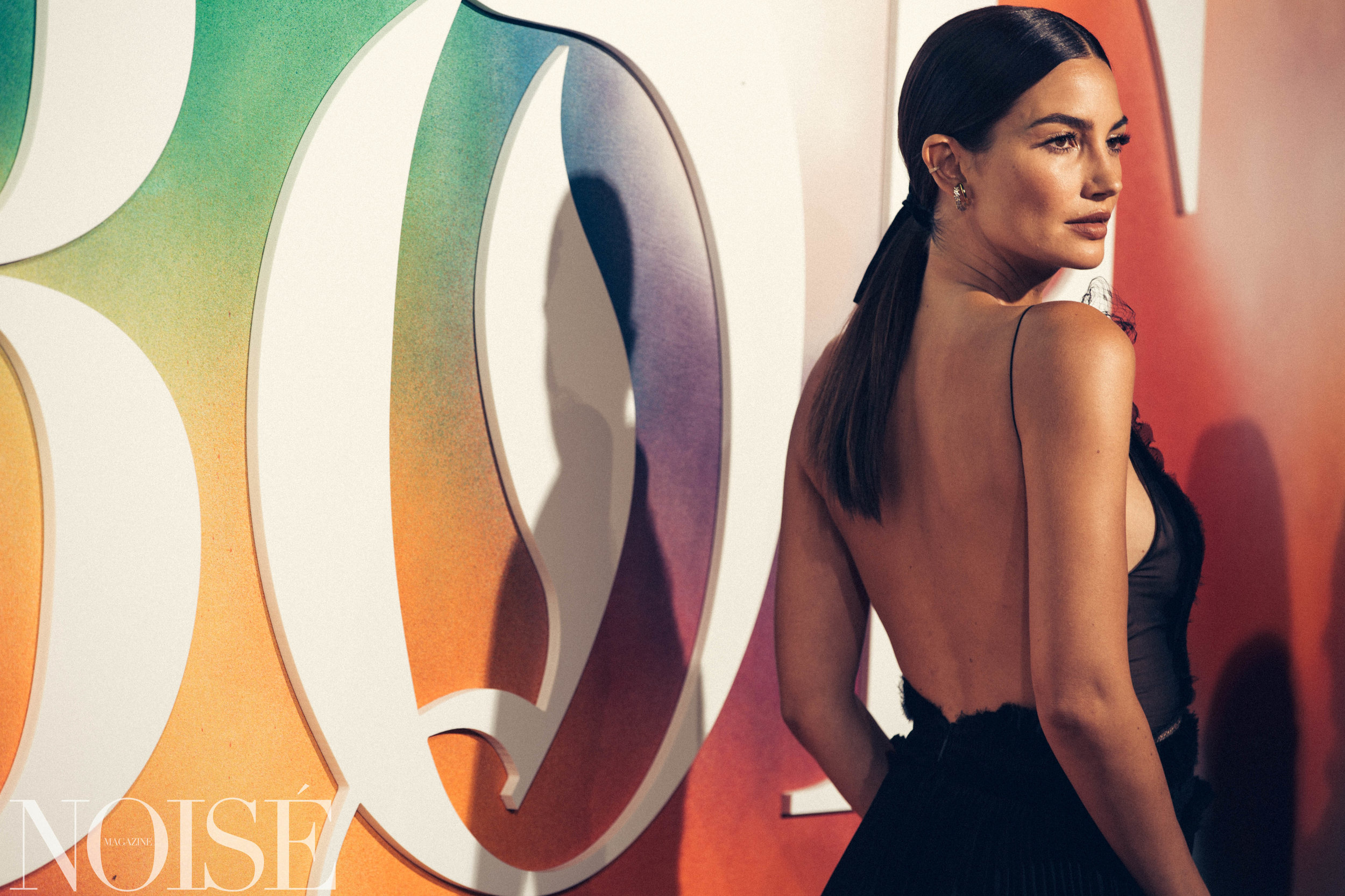 Lily Aldridge wearing Jason Wu and Jimmy Choo at BoF 500 gala, Photograph by Siyu Tang