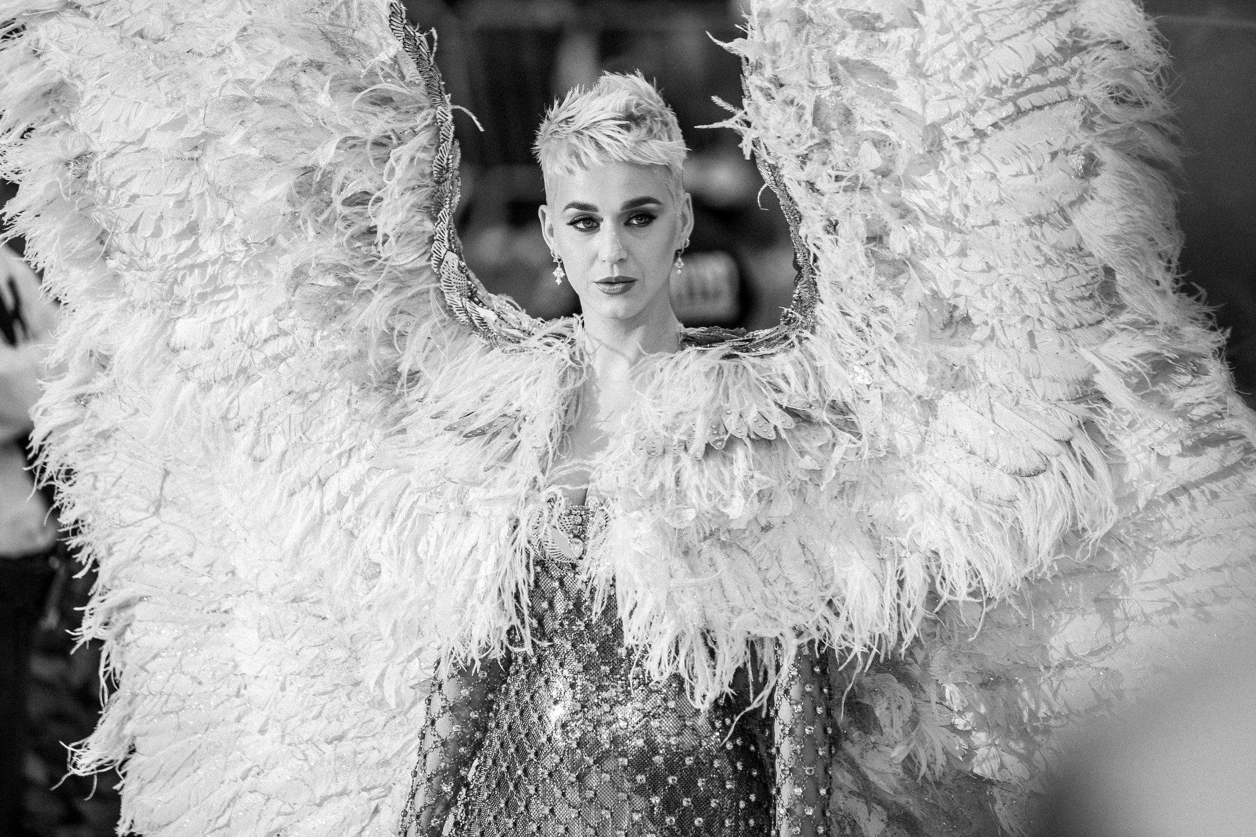 Katy Perry at the 2018 Met Gala. Photograph by Siyu Tang.