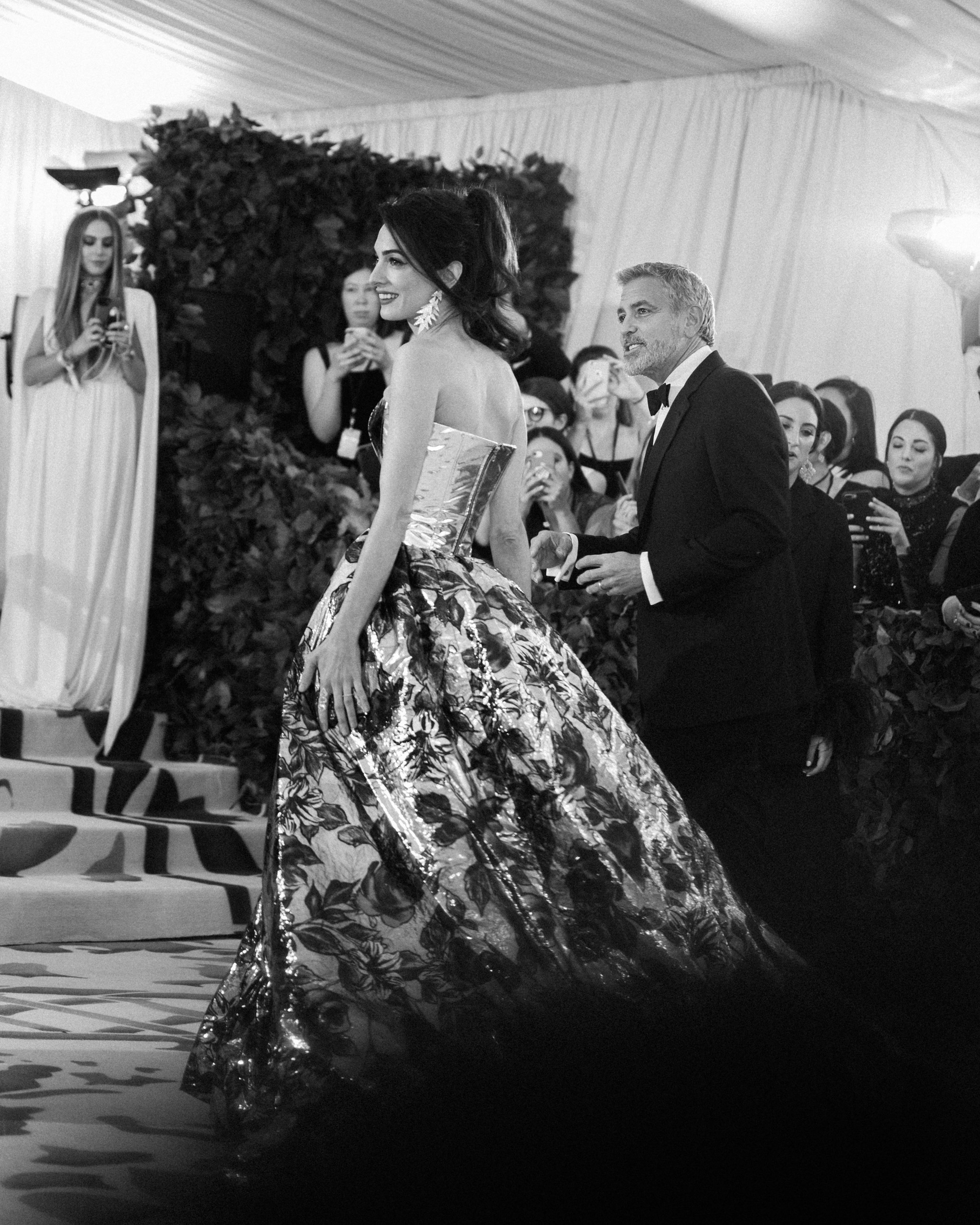 George Clooney and Amal Clooney at the 2018 Met Gala. Photograph by Siyu Tang.