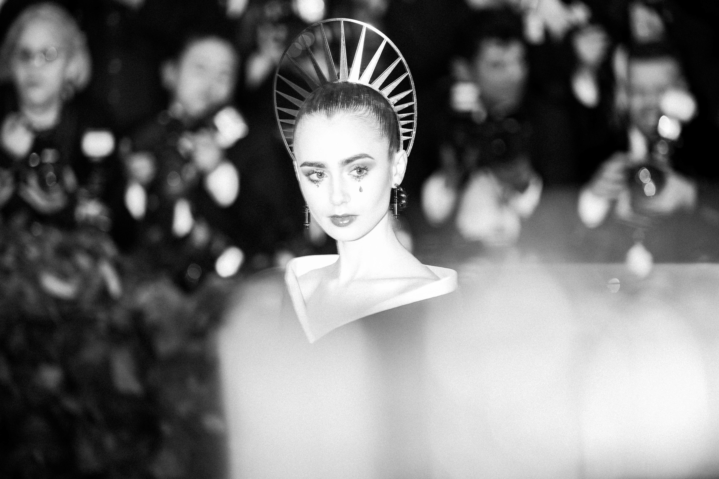 Lily Collins at the 2018 Met Gala. Photograph by Siyu Tang.