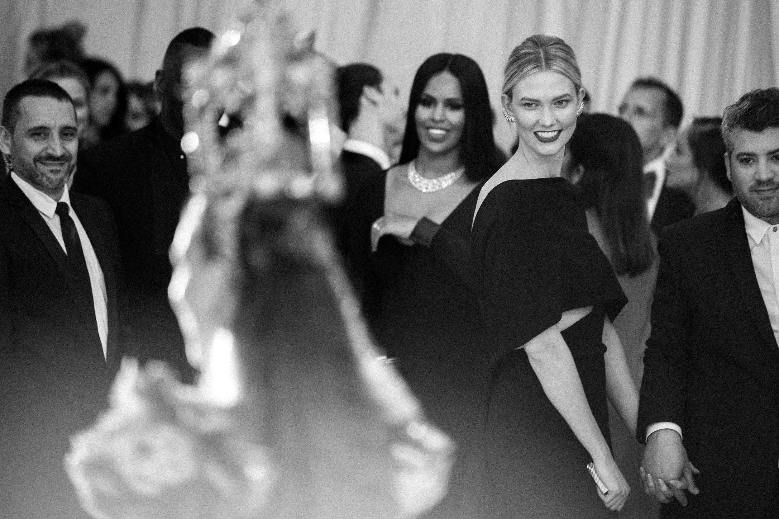 Karlie Kloss at the 2018 Met Gala. Photograph by Siyu Tang.