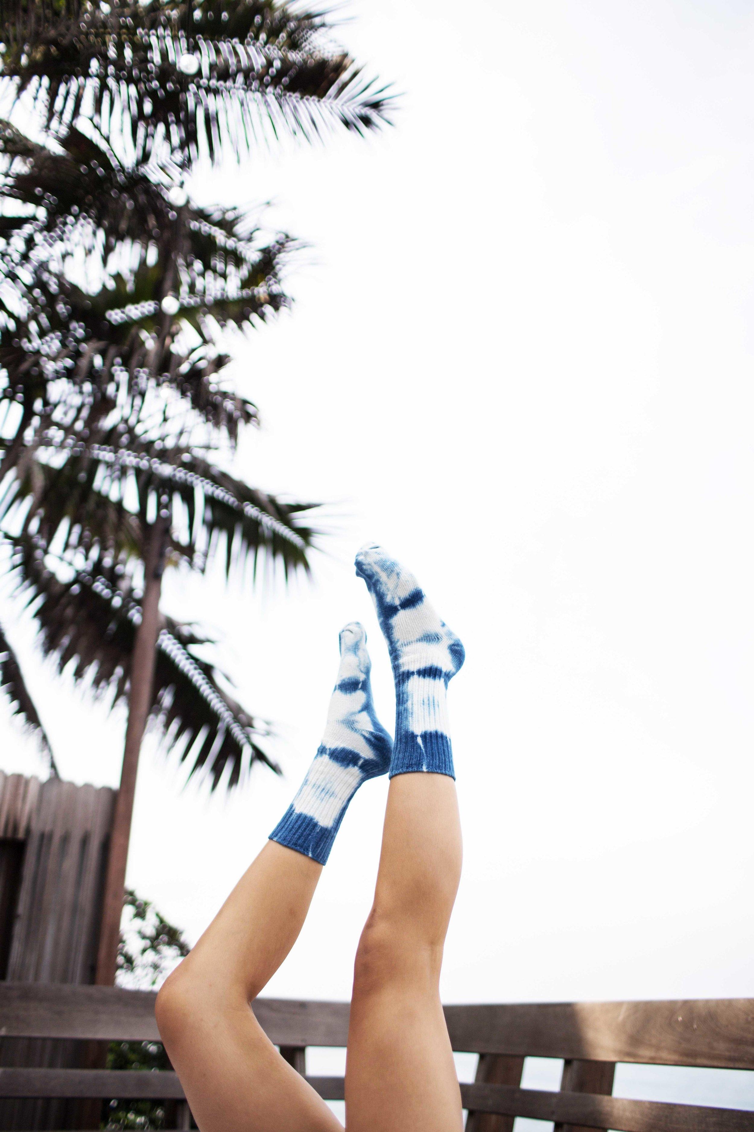 I Love Bad Indigo dyed Hemp/Organic Cotton Socks.