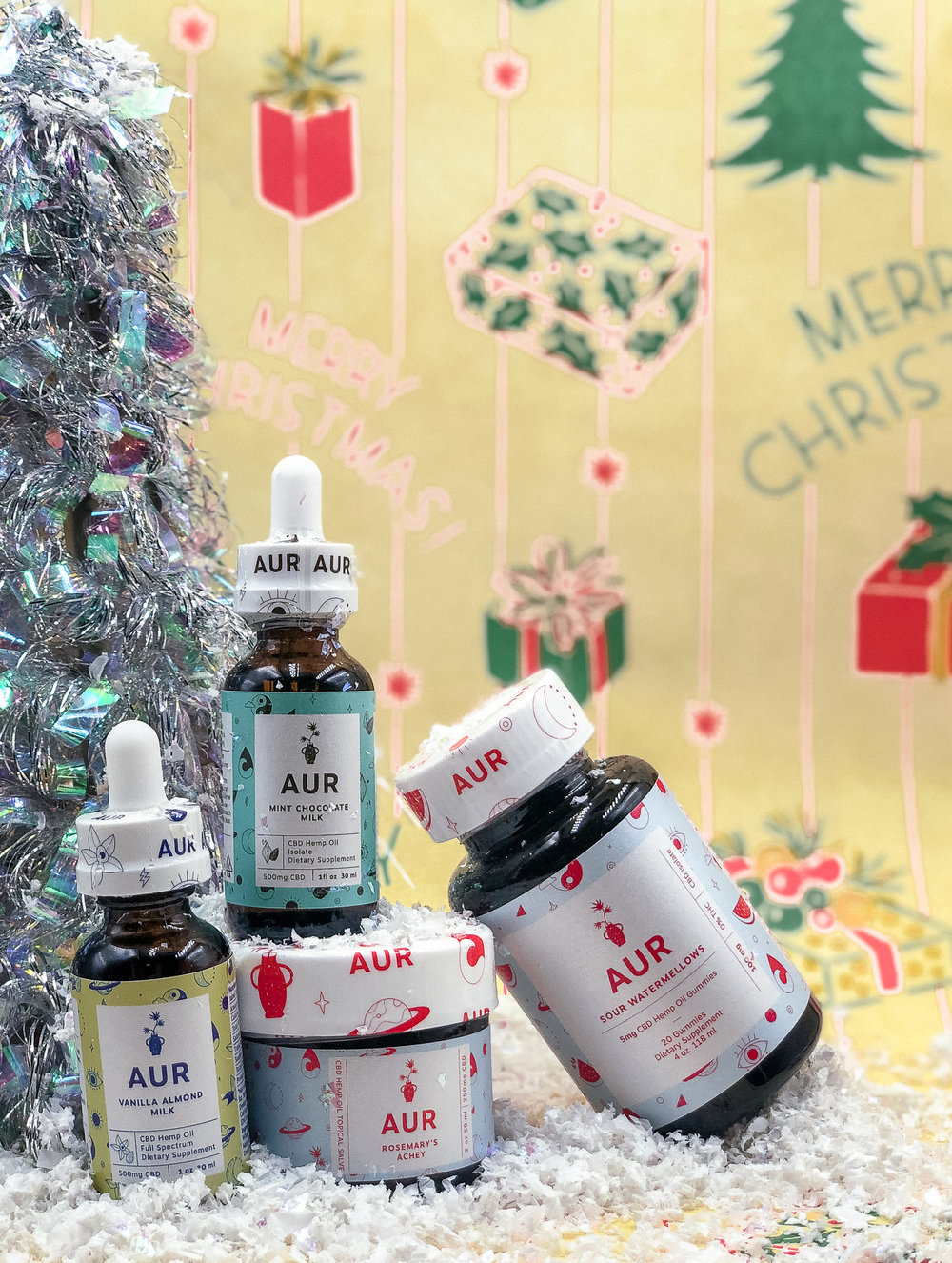 your sister: - Show your sibling some serious love and appreciation this year with a set of treats that'll bring her a sense of peace all year long. The vanilla almond milk CBD oil tastes like cookies, and the mint chocolate milk CBD oil blends flawlessly into a peppermint cocoa.