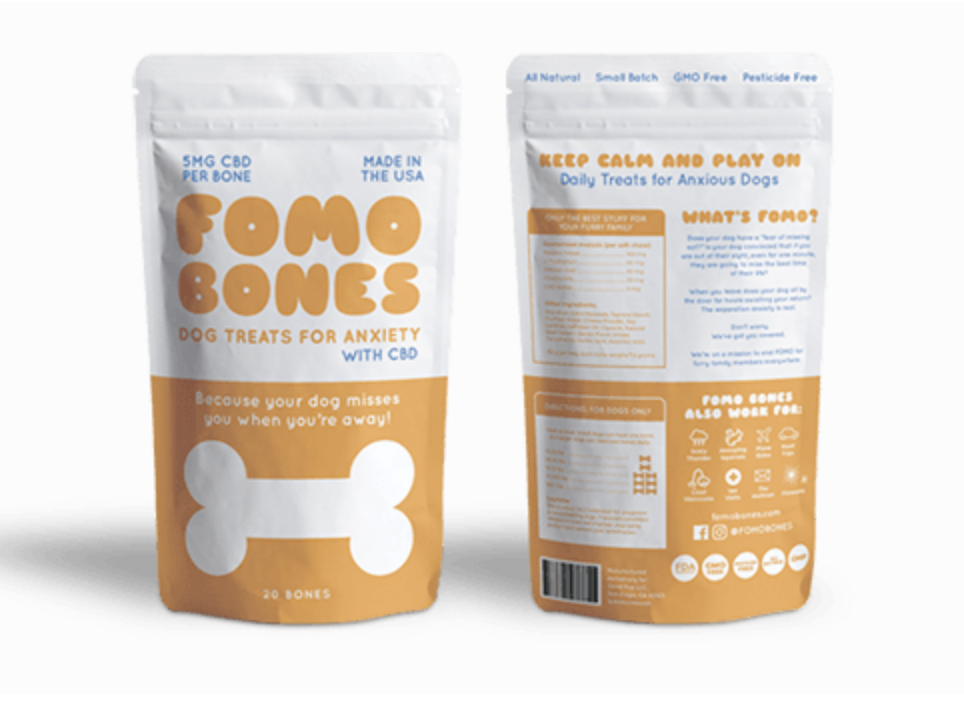 for your dog: - Yes, even Fido gets a CBD gift this year. These anti-anxiety pup treats are ideal for any furry friends with separation anxiety, nervous energy, or aches and pains in later stages of life. They're bacon flavored, so you know your favorite companion is going to be obsessed. This San Diego-based company packs 5mg of CBD into each bone, allowing you to control the dose for (wo)man's best friend.
