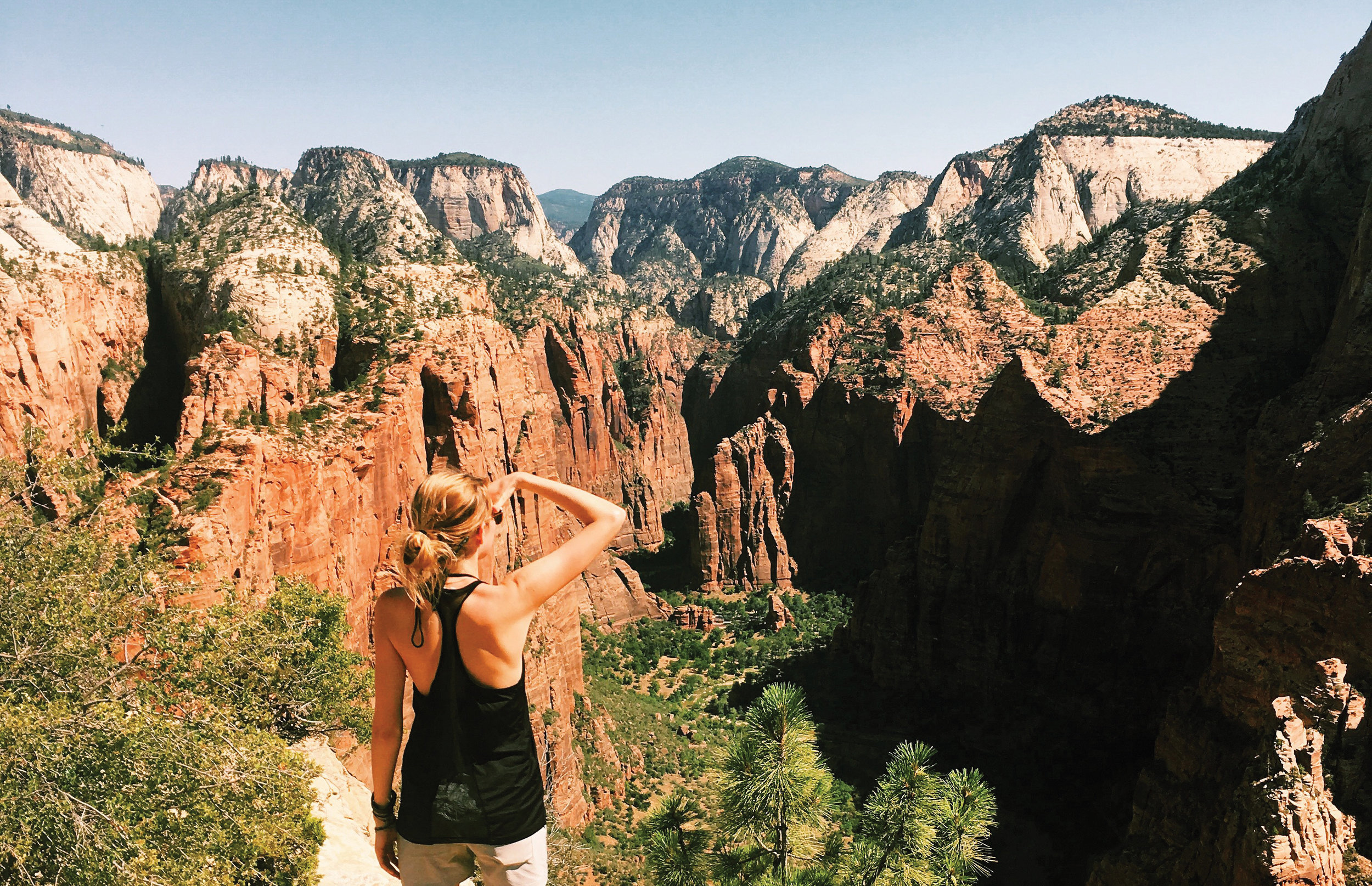 Kayla at Zion National Park UT  Daytripper 60 Days on the Road Exploring America's National Parks