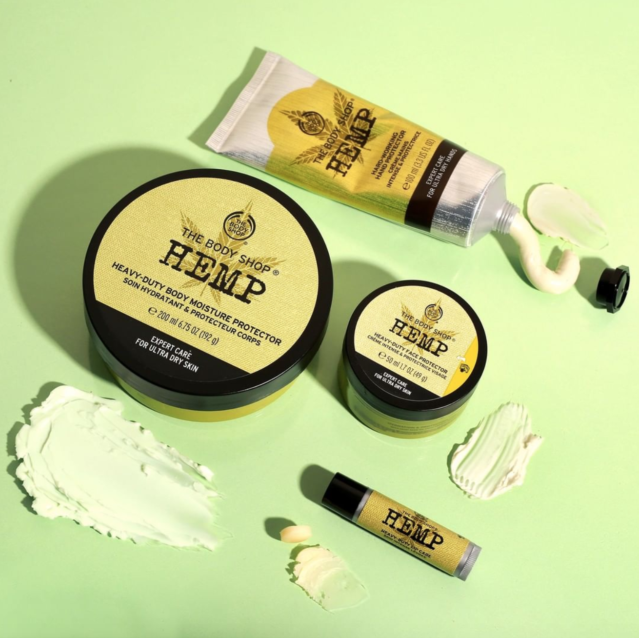 The Body Shop: Hemp Body Care Range - If you've been to a mall in the past 40 years, experienced female adolescence, or are from the UK, chances are you are all too familiar with the iconic British personal care and cosmetic brand, The Body Shop. But did you know they have an entire range dedicated to hemp products? Whether it's hand creams using hemp oil or exfoliating body mitts made of hemp fiber, their use of the plant is versatile and wholesome — not to mention, indulgently self-care focused.