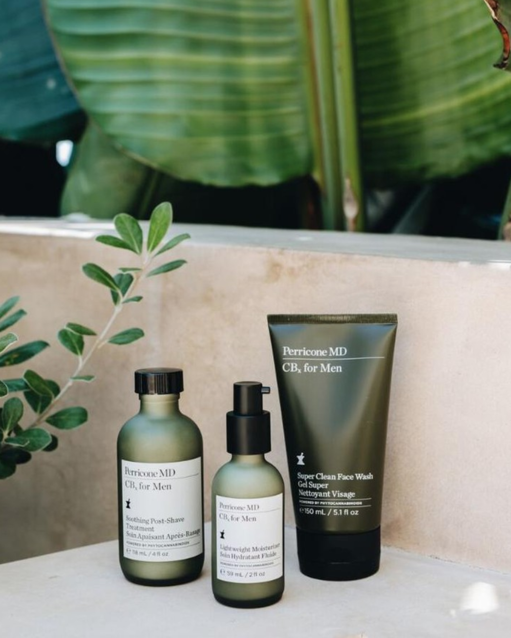 """PerriconeMD: CBx For Men - Here's something unexpected: luxury skincare line Perricone MD using hemp — in their men's product line! CBx For Men is a collection of facial wash, moisturizer, and aftershave using phytocannabinoids to treat """"oil-prone"""" skin. And of course, the fragrance is """"woodsy green with a subtle top note of fresh hemp."""""""