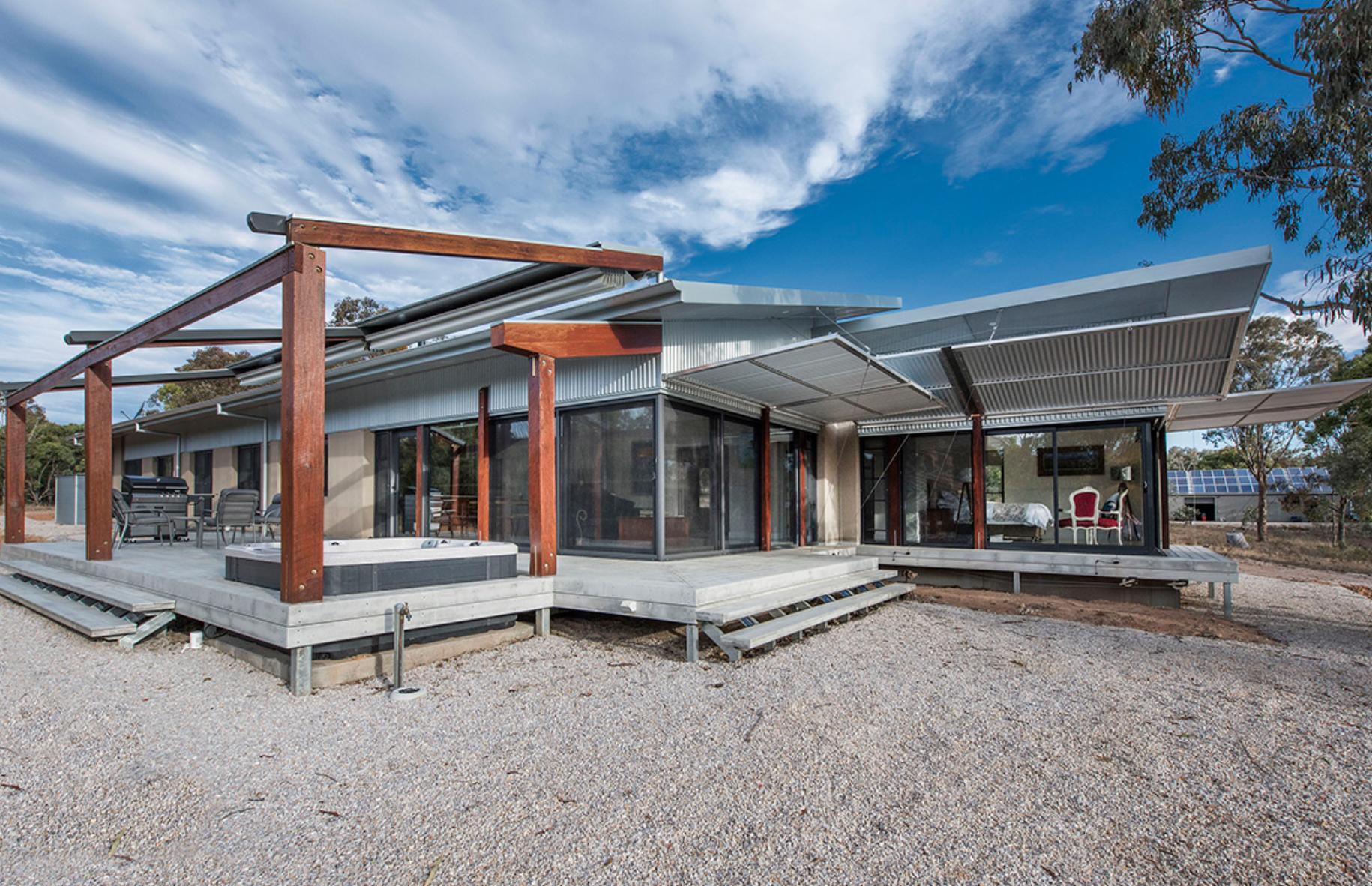 Exterior of the Mudgee Hempcrete House in Australia