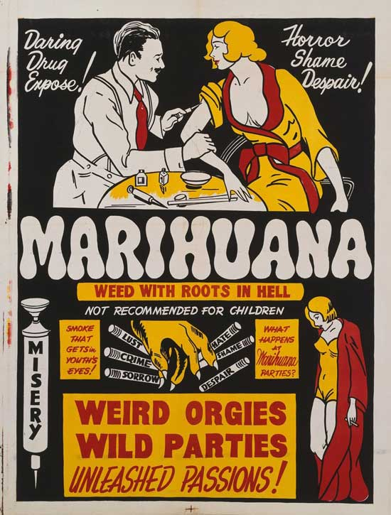 Marihuana propaganda posters from the 1930's