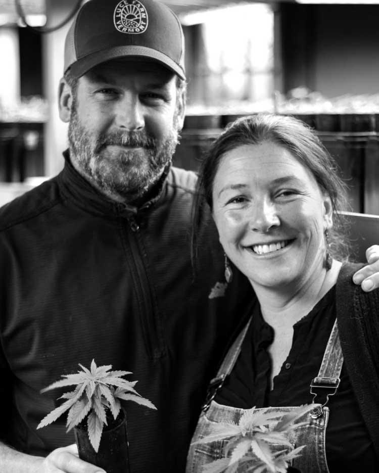 Luce Farm owners Joe and Rebecca Pimental