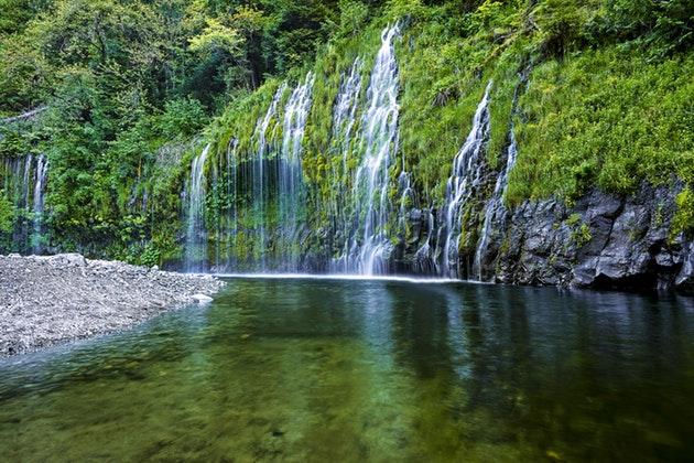 Mossbrae Falls 1 mile from Dunsmuir