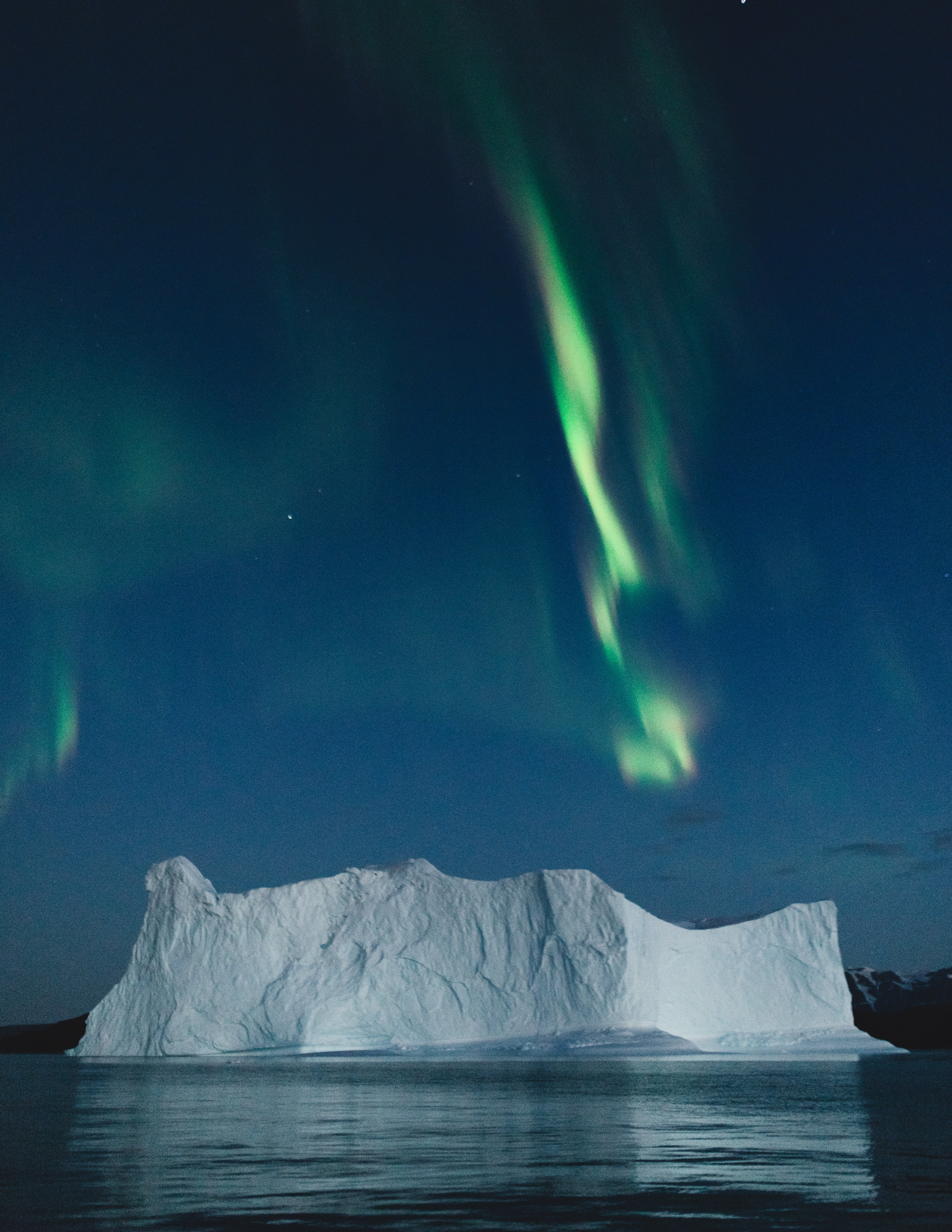 Aurora over iceberg: Northeast Greenland 2018