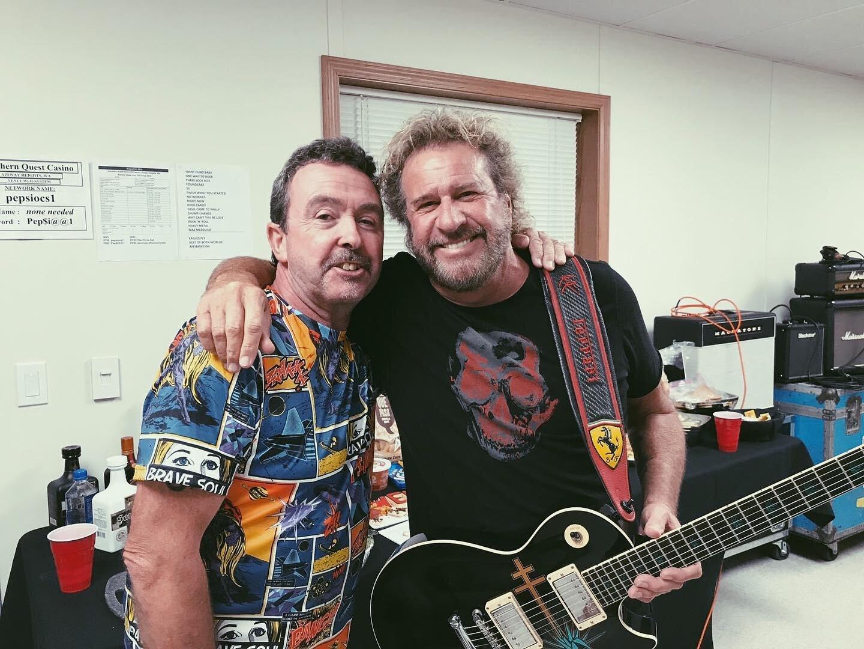 Sammy Hagar and Tony. Photo Credit: Carol Lewis