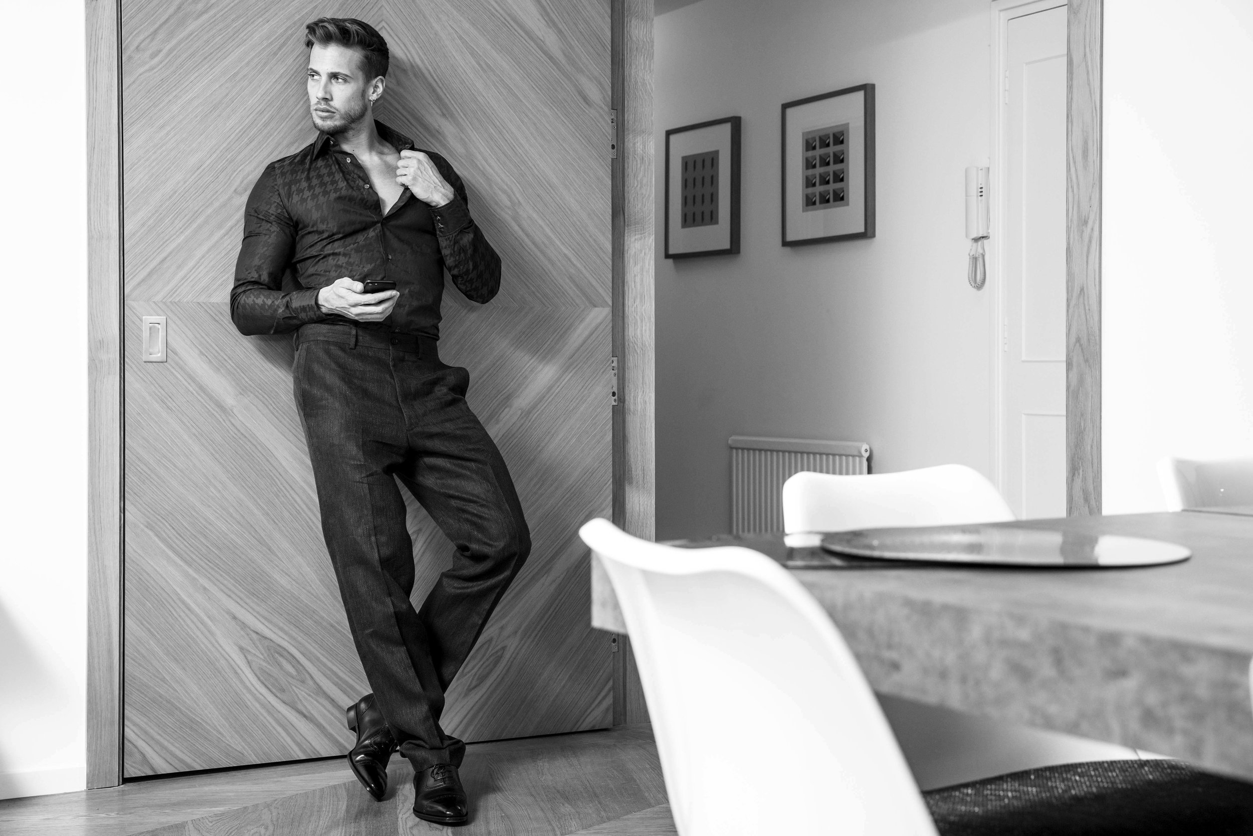 Suit -  Tiger of Sweden , Shirt -  Richard James , Shoes -  Gaziano & Girling