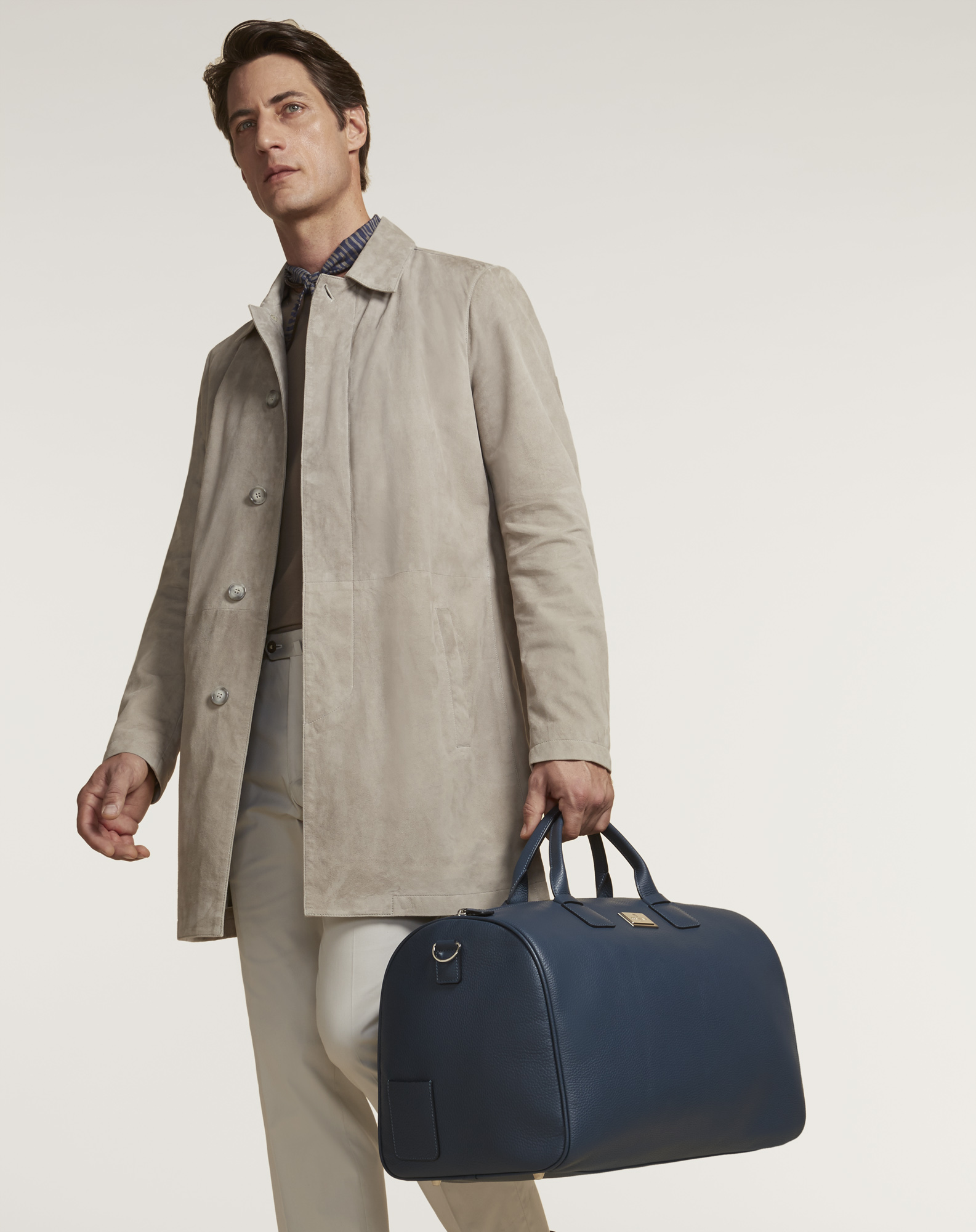 Corneliani suede trench coat - £1,600 - The perfect transitional coat for warmer spring days