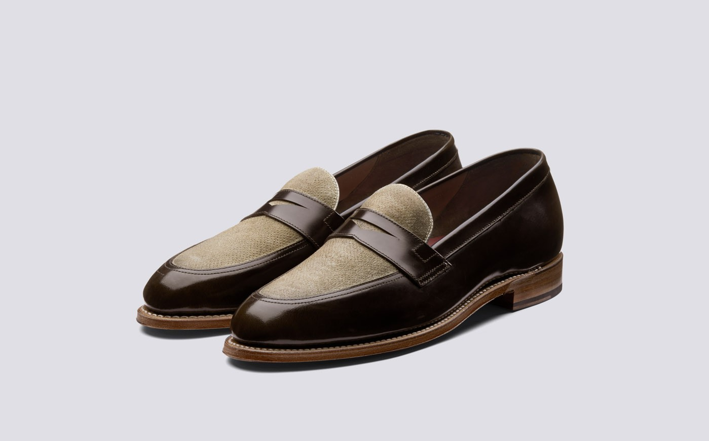 Grenson loafers - £215.00 - Beyond obsessed. Roll on summer so we can wear these with a pair of pleated cream trousers