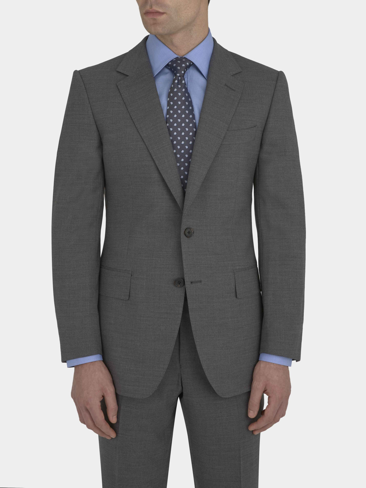 Gieves & Hawkes grey three piece suit - £1,195