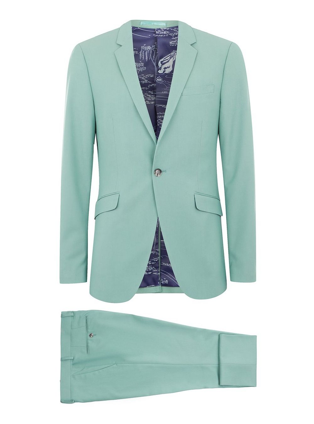 Topman mint green suit - £130 - Because dusty rose pink is so last season
