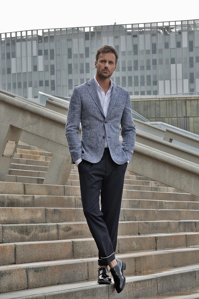 Jacket -  L.B.M 1911 , Shirt -  Nara , Trousers -  Massimo Dutti , Shoes -  Church's