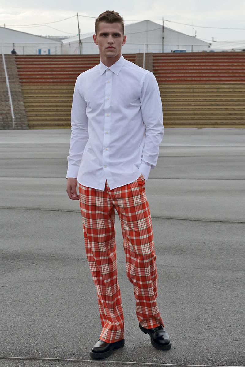 Shirt -  Prada , trousers -  Daniele Alessandrini , shoes -  Valentino