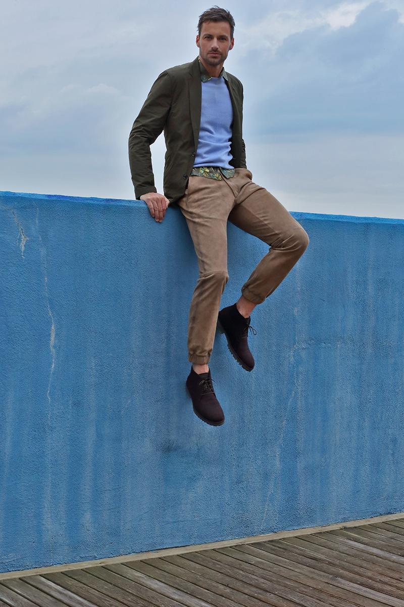 Jacket -  Prada Sport , sweater -  Loro Piano , shirt - vintage, trousers -  Jtrois , shoes -  Loro Piano