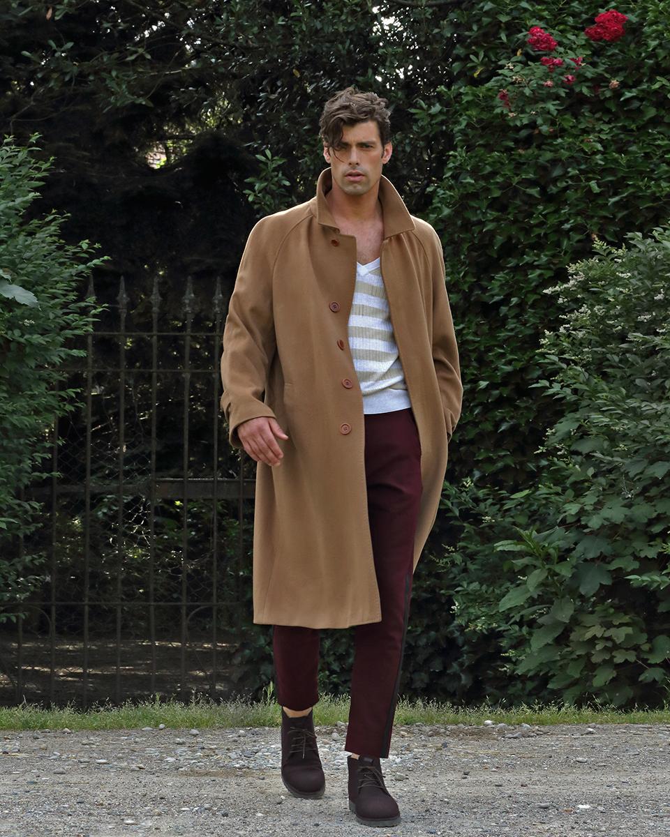 Coat - vintage  Canali , knit -  Cerruti , trousers -  Zara , shoes -  Emporio Armani