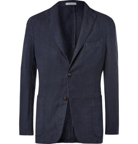 Boglioli navy unstructured linen suit jacket at Mr Porter - £595