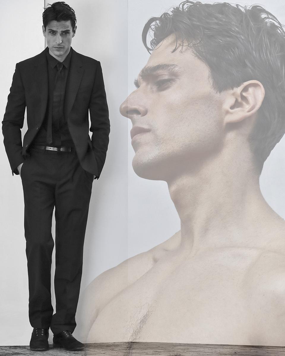 Suit & tie -  Hugo Boss , shirt -  Nara Camicie , belt -  Zara , shoes -  Saint Laurent