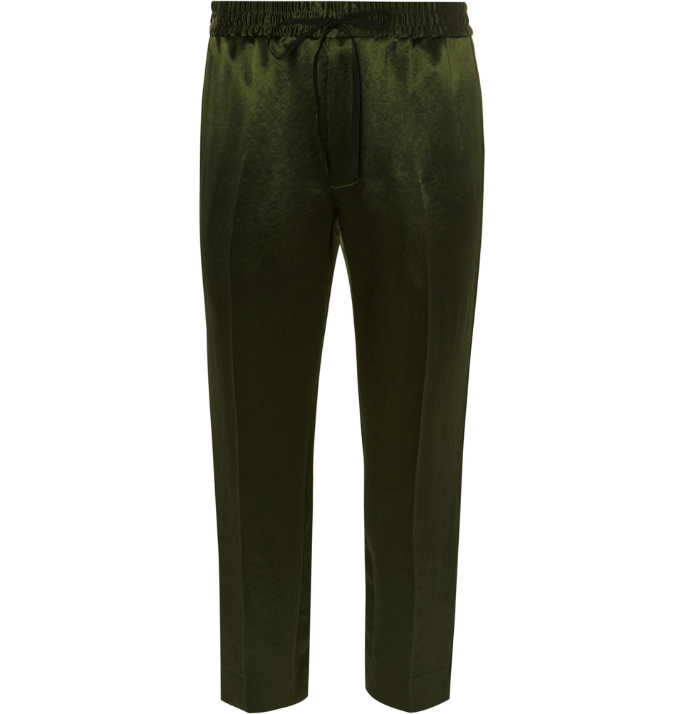 Gucci trousers at Mr Porter - £770 - Because every self respecting rakish gent needs a pair of silk trousers this autumn