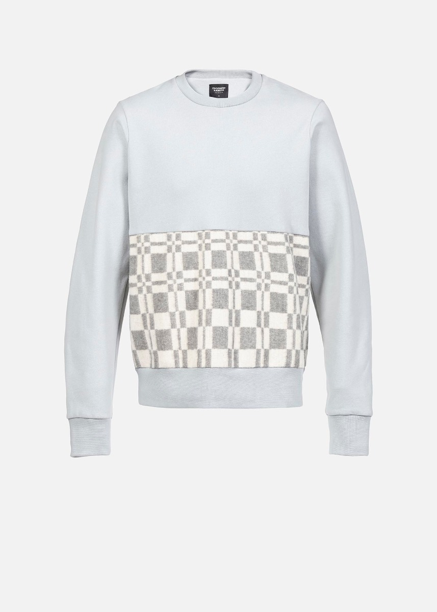 Christopher Raeburn remade sweatshirt - £250 - Remade from a Russian blanket. Great talking point for pub chat.