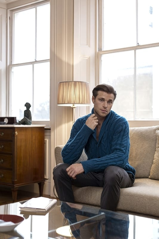 Knitwear – Richard James , Trousers – Oliver Sweeney