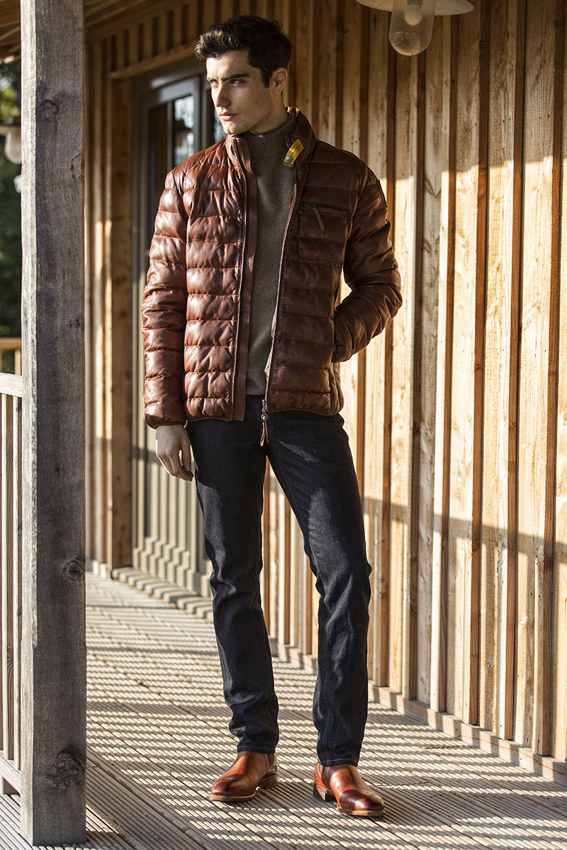 Jacket –  Parajumpers , Denim –  R.M. Williams , Knitwear –  Samsoe & Samsoe , Boots –  R.M. Williams