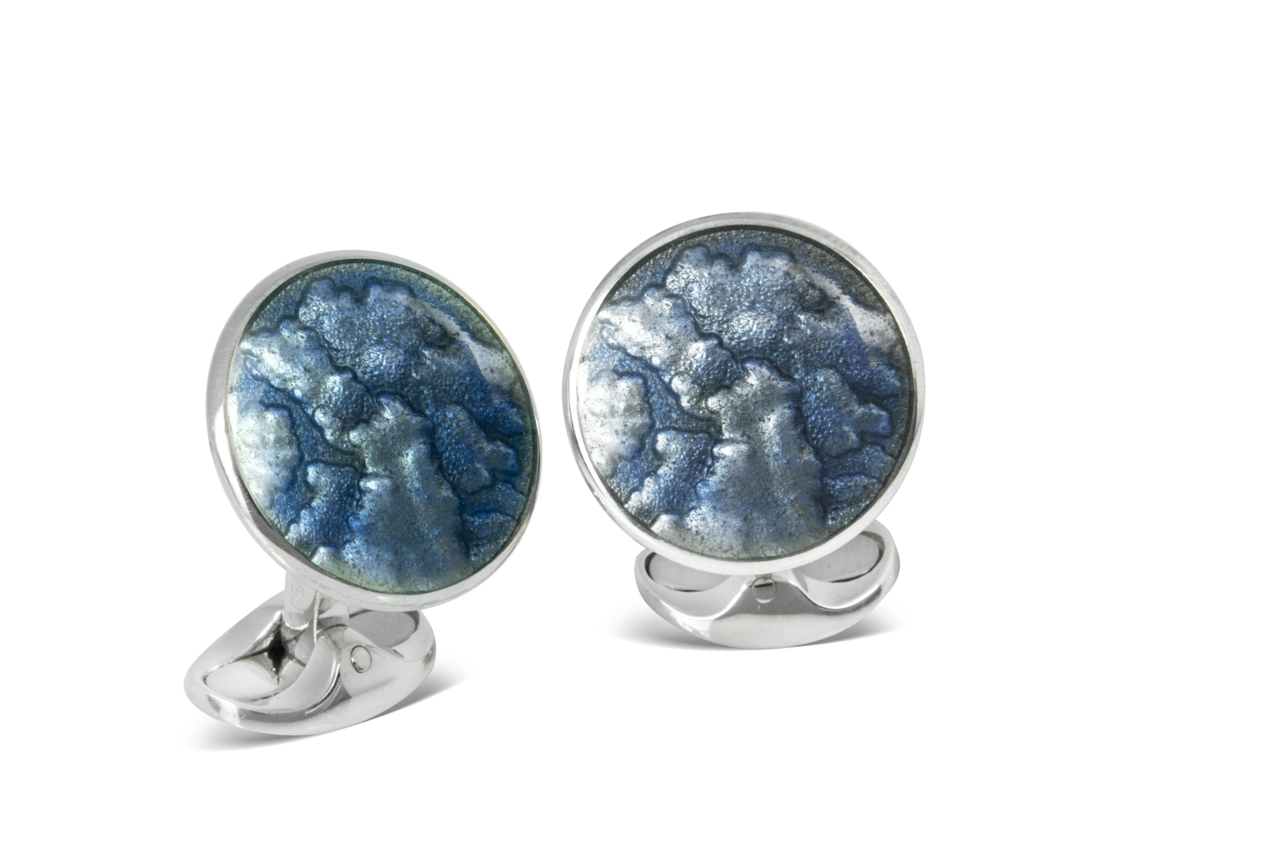 Deakin & Francis winter haze cufflinks - £425 - A truly rakish gent knows the importance of a decadent pair of cuff links. Available to order now at Deakin & Francis