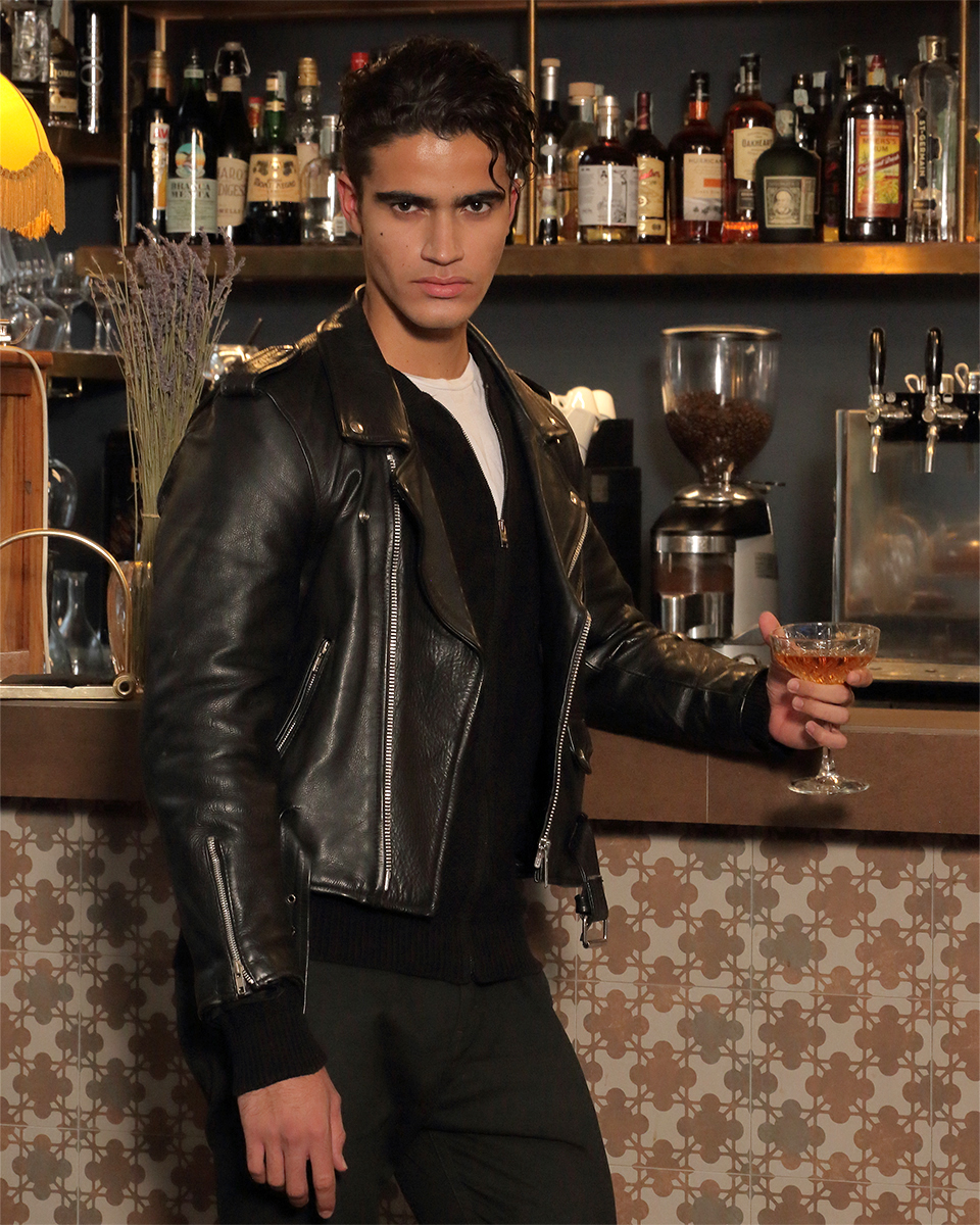 Jacket - Stylist's own, Knit -  Paolo Pecora , T-shirt -  Zara , Trousers -  Ann Demeulemeester