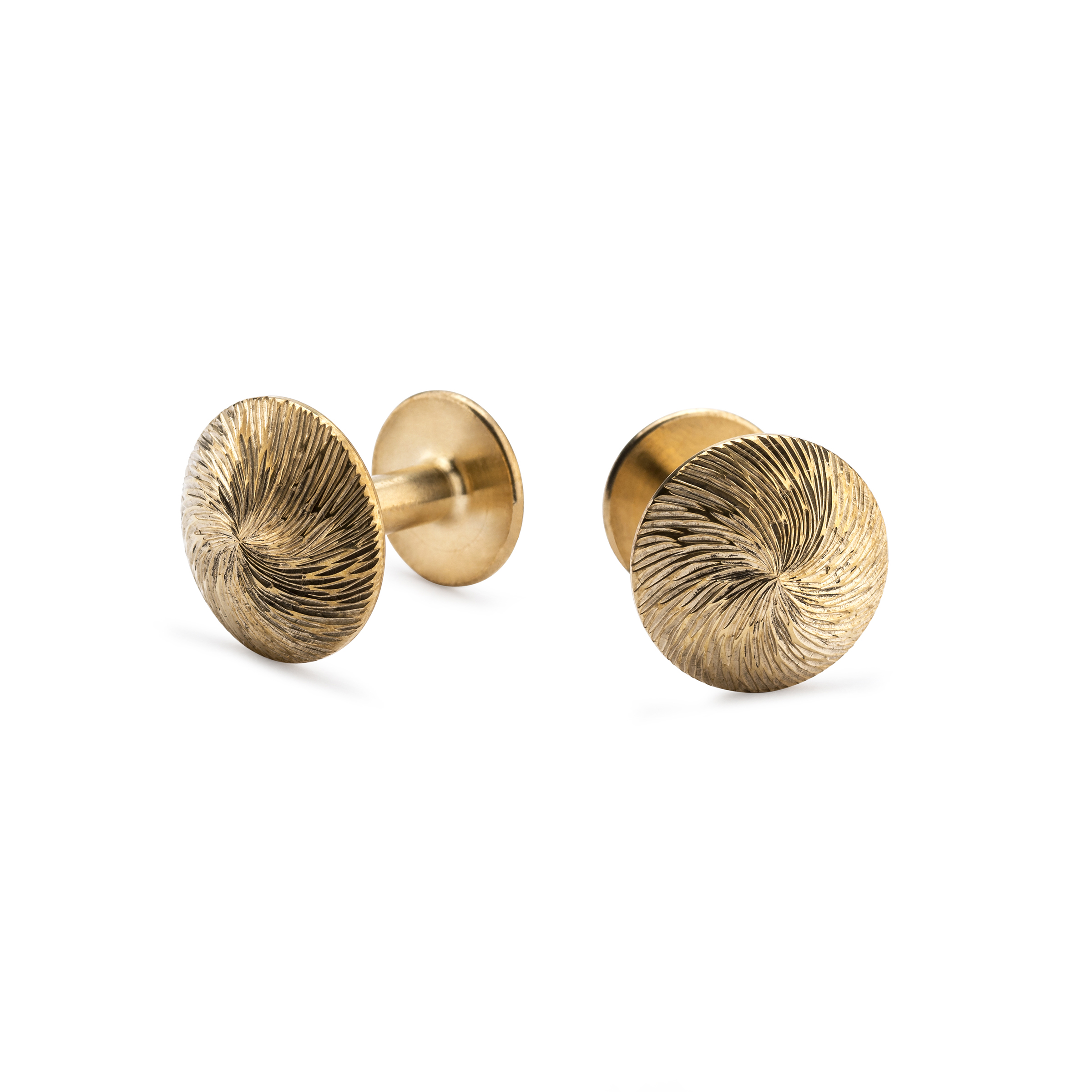 NEW Alice Made This 'Sketch Collection' James - Sprial Cut Gold Cufflinks - £245.00.jpg