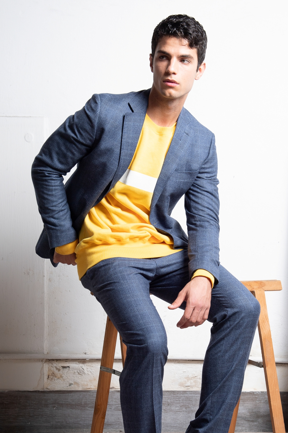 Suit -  Luigi Bianchi Mantova  Sweater -  Lucio Vanott i, Shoes-  Bata