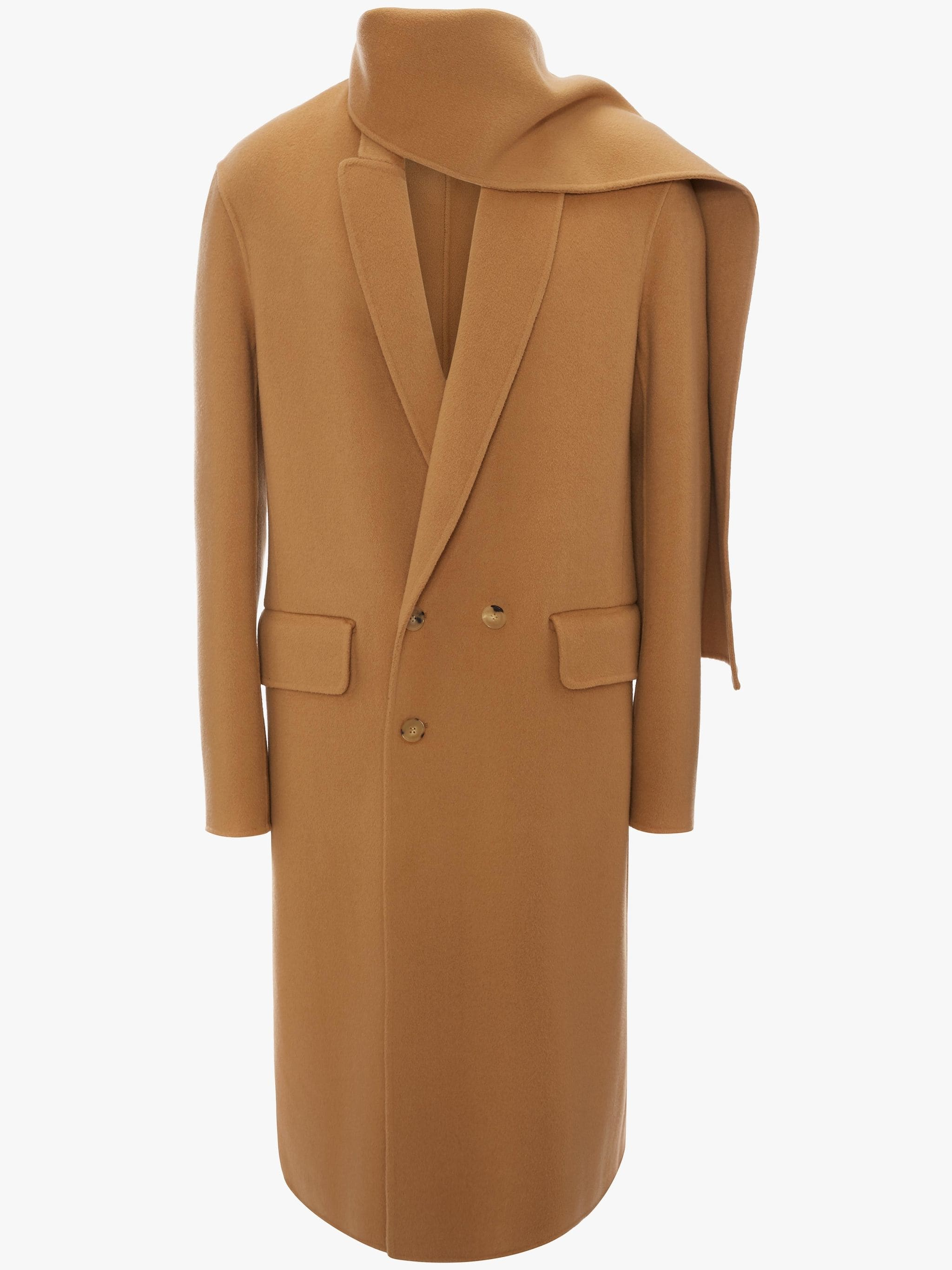 JW Anderson camel wool scarf coat - £1,100 - It's a scarf and a coat, so it's totally worth the price tag.