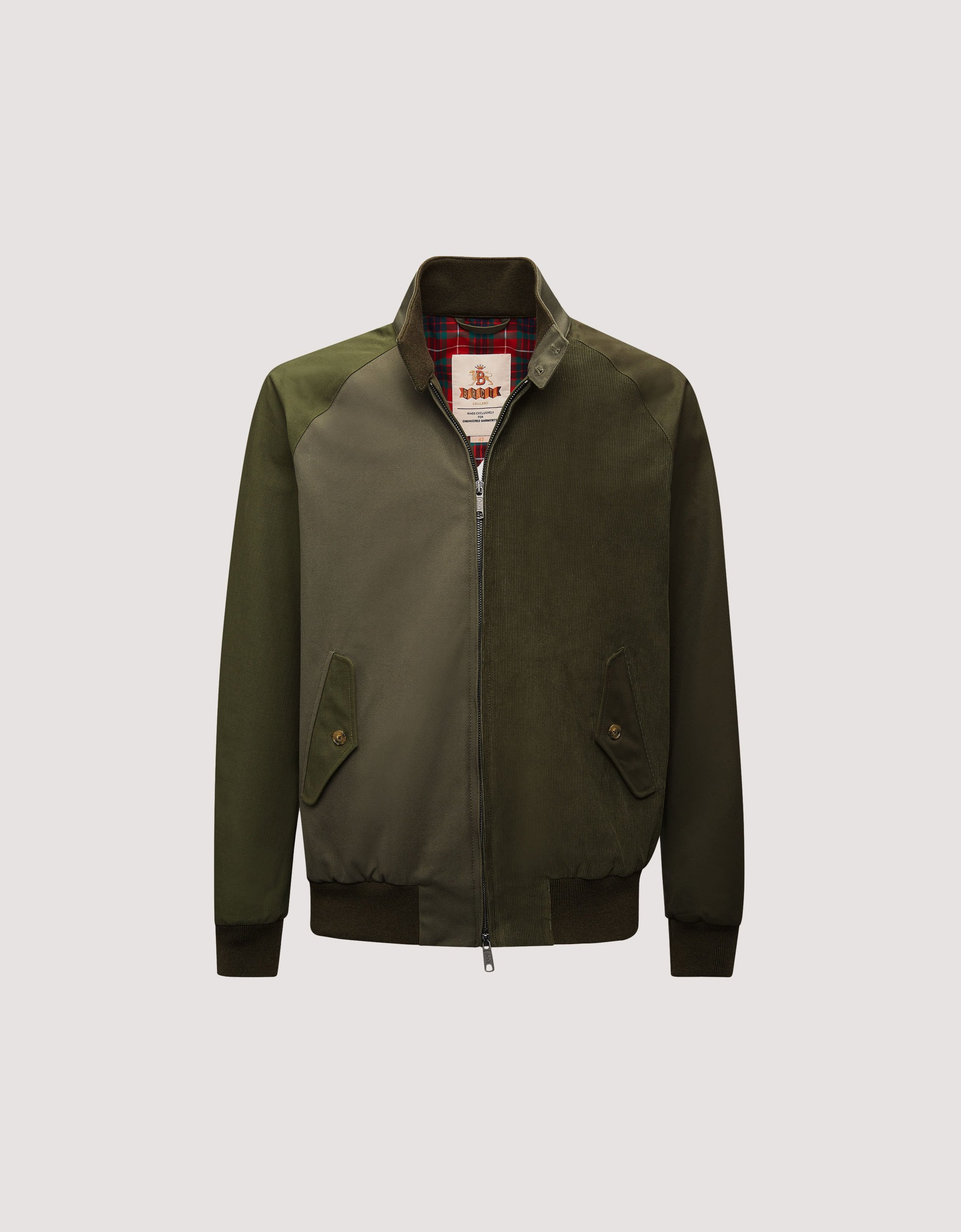 Engineered Garments x Baracuta jacket - £480 - Obsessed with this wear anywhere, at any time, superbly fitted olive green bomber style jacket