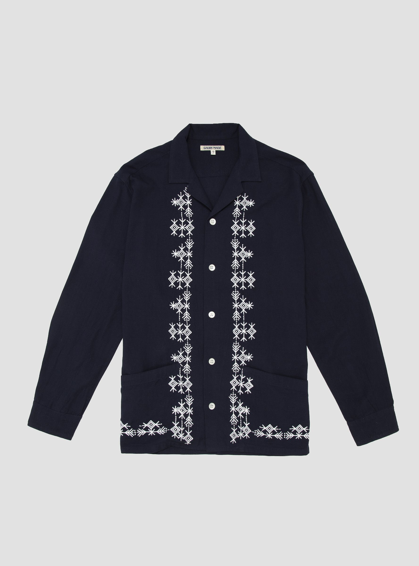 Gaijin Made cotton shirt - £215 - Superb for a cooler clime, with hand embroidery from Indian artisans, this is a superb shirt for summer at Couverture & The Garbstore