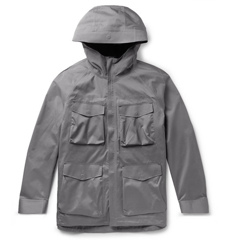 Theory hooded jacket at Mr Porter - £995 - Perfect for those days (of which there are often) when the weather doesn't know what to do with itself