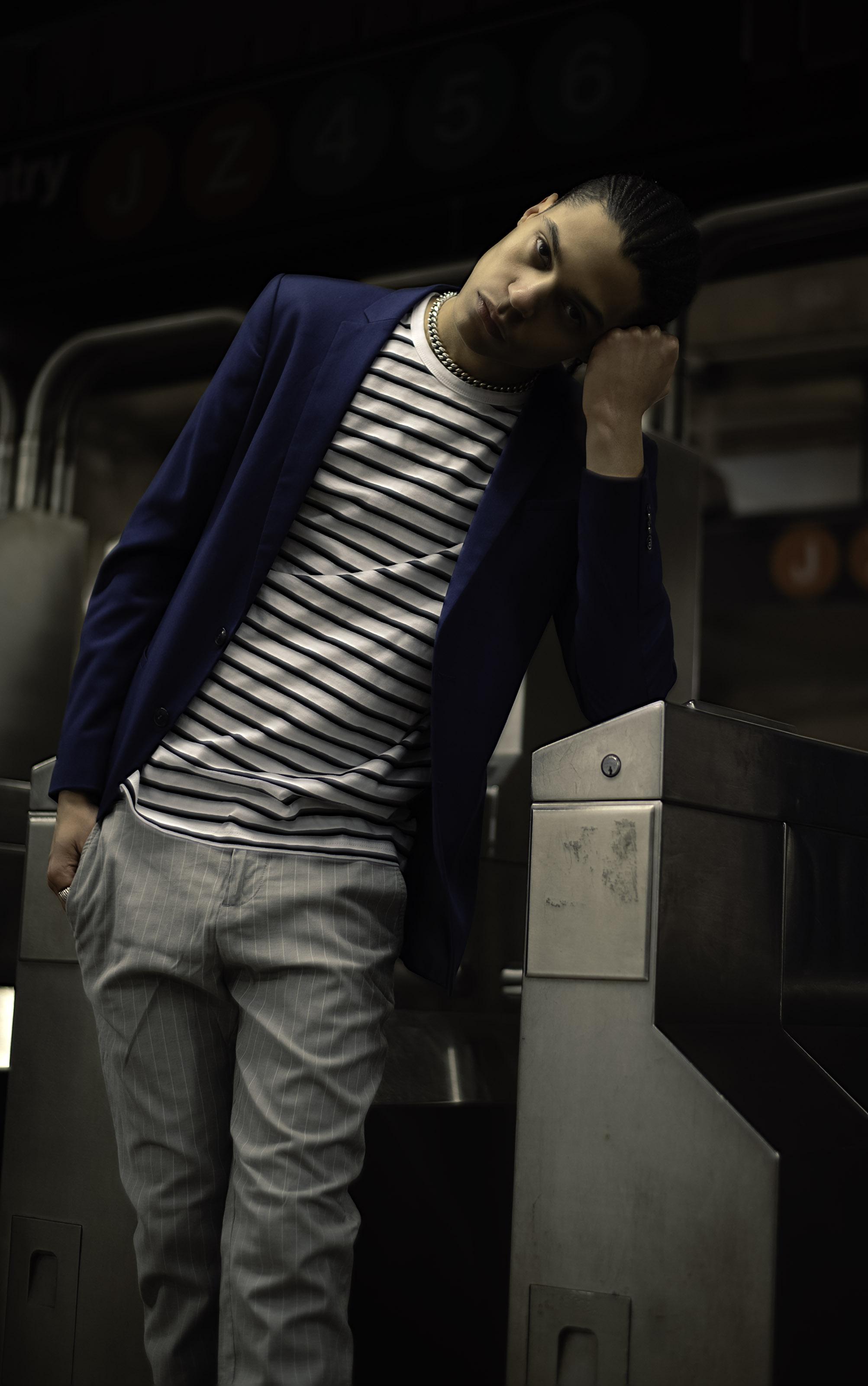 Blazer & trousers -  Zara , T-shirt -  Topman